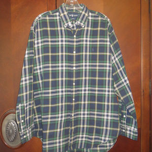 RALPH LAUREN Blake Fit Plaid Button Down Shirt
